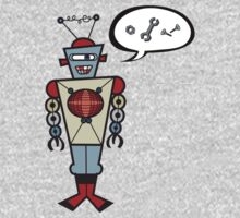 Robot Talking Nuts and Bolts One Piece - Long Sleeve