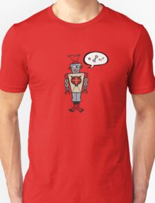 Robot Talking Nuts and Bolts Unisex T-Shirt