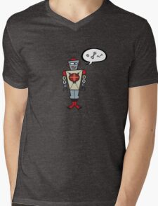 Robot Talking Nuts and Bolts Mens V-Neck T-Shirt