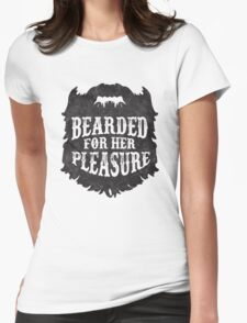 Beard Please Womens Fitted T-Shirt