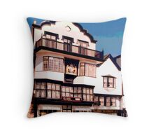 Mol's Coffee House, Exeter  Throw Pillow
