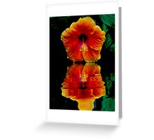 HIBISCUS REFLECTION Greeting Card
