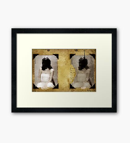 TWO PORTRAITS FOR THE LOST YOUTH Framed Print