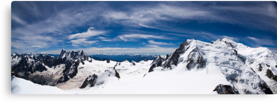 Up Mont Blanc Panorama by Chris Rollason