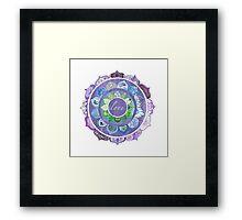 Positive Intentions Lotus Mandala Framed Print