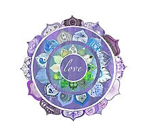 Positive Intentions Lotus Mandala Photographic Print