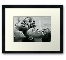 Looking at the stars - Congo Framed Print