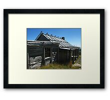 Craig's Hut - A Closer Look Framed Print