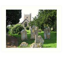 Church at Hazelbury Bryan, Dorset Art Print