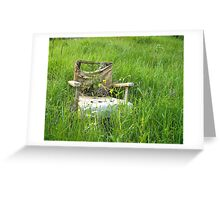 Abandoned Chair Greeting Card