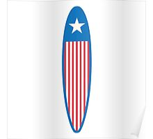 American Surfboard. Poster