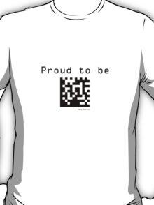 Nerd - Data Matrix - Black Text T-Shirt