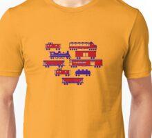 Red Train Blue Train Unisex T-Shirt
