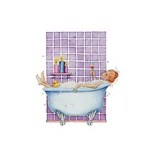 Bathtub Joy Photographic Print