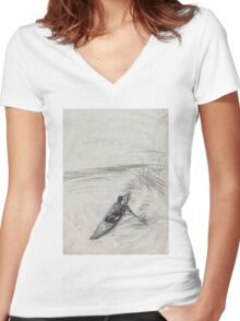 in the boath Women's Fitted V-Neck T-Shirt