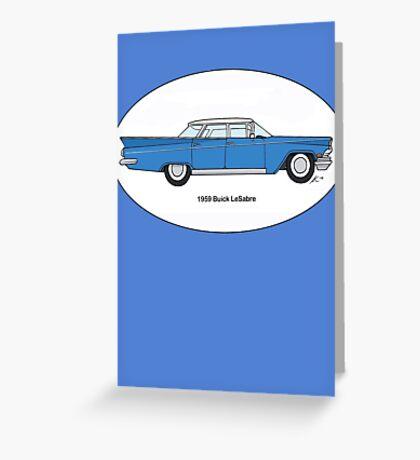 '59 Buick LeSabre Cobalt Blue Greeting Card