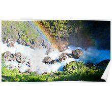 Wild River Rainbow in Austria Poster