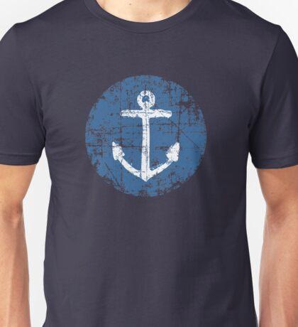 Anchor Sign Vintage Navy Unisex T-Shirt