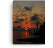 The End Or Beginning Of A Perfect Day Canvas Print