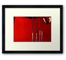 base lines Framed Print