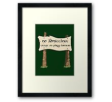 Party Business Framed Print