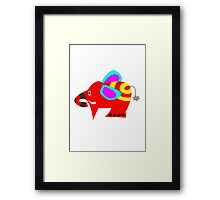 The elephant Framed Print