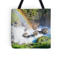Wild River Rainbow in Austria Tote Bag