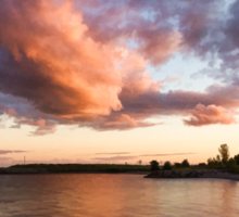 Colorful Summer Sunset - Lake Ontario Impressions Sticker