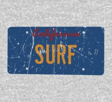 California surf plate - Distressed version T-Shirt