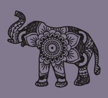 Mandala Elephant Black Kids Clothes