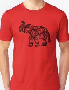Mandala Elephant Black T-Shirt