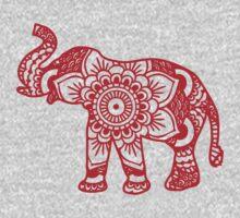 Mandala Elephant Red Kids Clothes