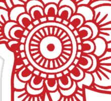 Mandala Elephant Red Sticker