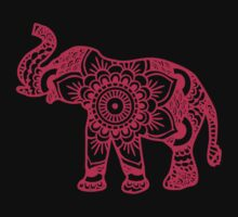 Mandala Elephant Pink Kids Clothes
