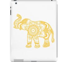 Mandala Elephant Yellow iPad Case/Skin