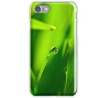 Drop of Water in Green Macro Landscape iPhone Case/Skin