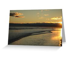 South Pacific Beach Sunset Greeting Card