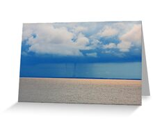Double Waterspout Forming Greeting Card