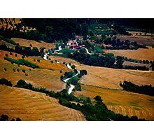 Tuscany Small Road Landscape (Italy) Photographic Print