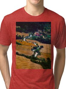 Tuscany Small Road Landscape (Italy) Tri-blend T-Shirt
