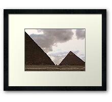 Pyramids Framed Print