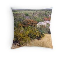 Wildflowers at the roadside  Throw Pillow