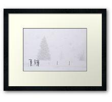 Not afraid of a little bit of snow Framed Print