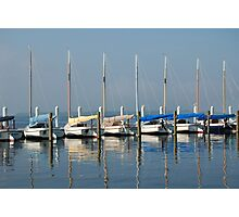 Pretty Boats All in a Row Photographic Print