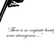 Edgar Allan Poe - Beauty and Strangeness Sticker