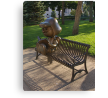 Peanuts Statues in Rice Park Canvas Print