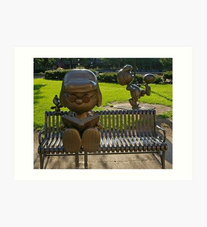 Peanuts Statues in Rice Park 2 Art Print