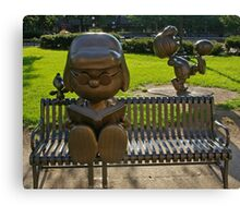 Peanuts Statues in Rice Park 2 Canvas Print