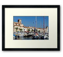View Across La Ciotat Bay, Provence, France Framed Print