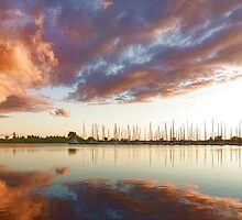 Reflecting on Yachts and Clouds - Lake Ontario Impressions by Georgia Mizuleva